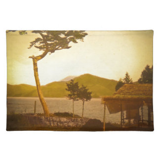 Yokohama Japan Park Vintage Mountains Place Mat