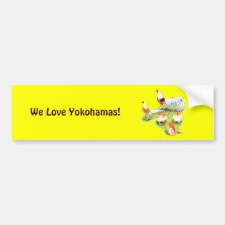 Yokohama Red Shoulder Family Bumper Sticker