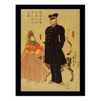 Yokohama torai Amerika shōnin ryōko no zu Post Card