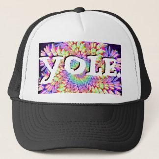 YOLE. Mandala 'close' hat. Trucker Hat