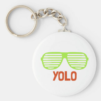 Yolo Basic Round Button Key Ring