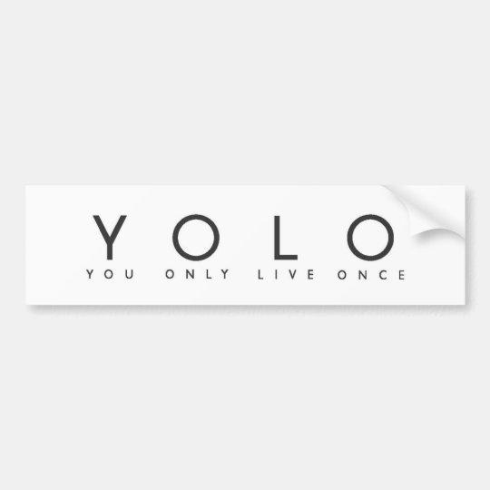 Yolo Bumper Sticker