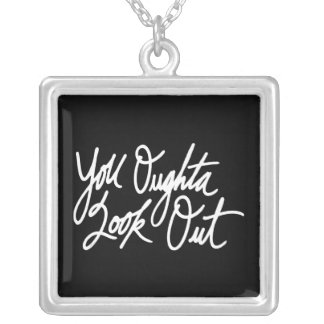 YOLO by Love Me Square Pendant Necklace