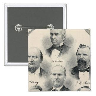 Yolo Co lithographed portraits 15 Cm Square Badge