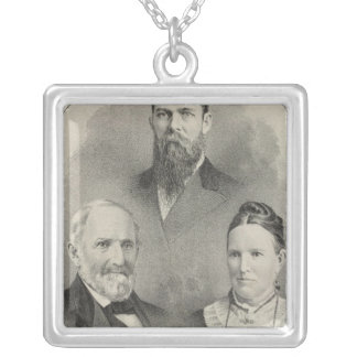 Yolo Co portraits Silver Plated Necklace
