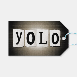 YOLO concept. Gift Tags