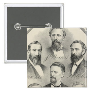 Yolo County lithographed portraits 15 Cm Square Badge