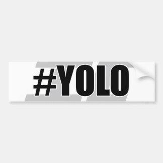 YOLO Hashtag Bumper Sticker