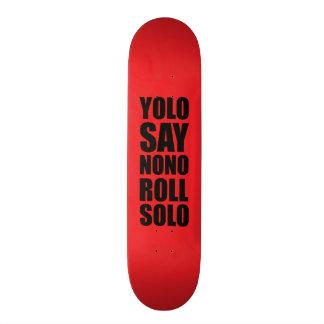 YOLO Roll Solo 20 Cm Skateboard Deck