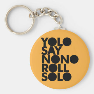 YOLO Roll Solo Filled Basic Round Button Key Ring