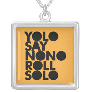 YOLO Roll Solo Filled Silver Plated Necklace