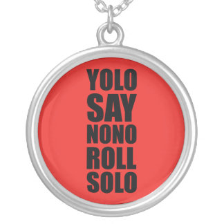 YOLO Roll Solo Round Pendant Necklace