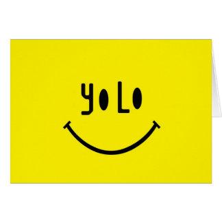 Yolo Smiley Face Card