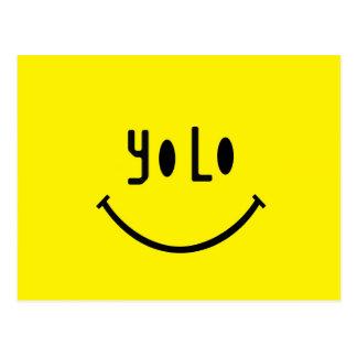 Yolo Smiley Face Postcard