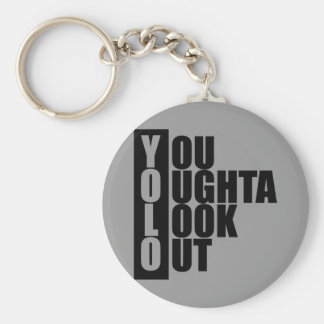 YOLO Vertical Box Basic Round Button Key Ring