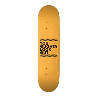 YOLO w/ Caution Skateboard Deck