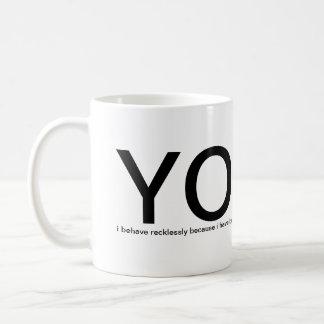YOLO - You Only Live Once! please help me Basic White Mug