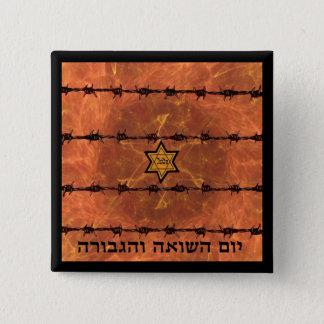 Yom HaShoah 15 Cm Square Badge