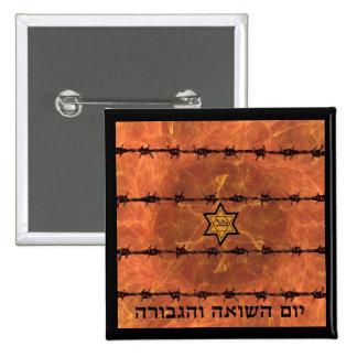 Yom HaShoah Pinback Button