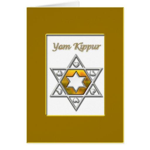 Yom Kippur Gold Greeting Card