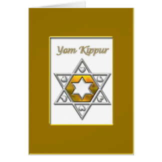 Yom Kippur Gold Greeting Card