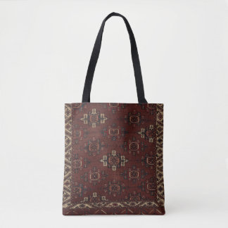 Yomut Main Turkmen Carpet Tote