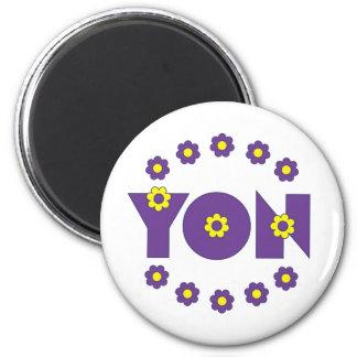 Yon in Flores Purple 6 Cm Round Magnet