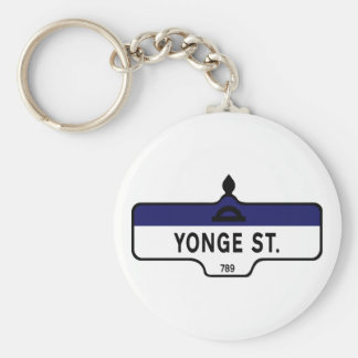 Yonge Street Toronto Street Sign Key Chains