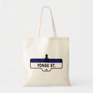 Yonge Street, Toronto Street Sign Budget Tote Bag