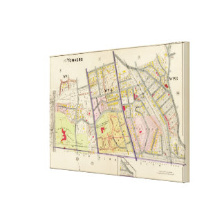 Yonkers Atlas Map 2 Canvas Print