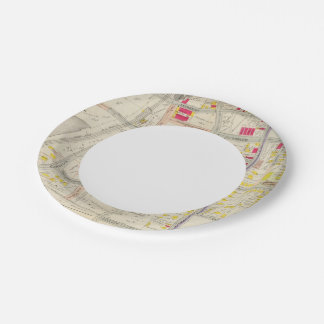 Yonkers Map Atlas 7 Inch Paper Plate