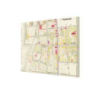 Yonkers Map Atlas Canvas Print