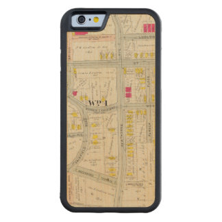 Yonkers Map Atlas Carved Maple iPhone 6 Bumper Case
