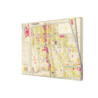 Yonkers Map Canvas Print