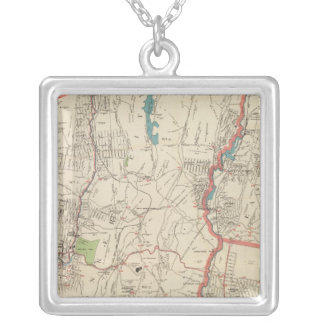 Yonkers, Mt Vernon, Eastchester towns Silver Plated Necklace