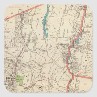 Yonkers, Mt Vernon, Eastchester towns Square Sticker