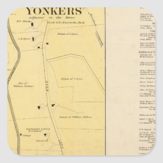 Yonkers N pt Square Sticker
