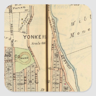 Yonkers, New York 4 Square Sticker