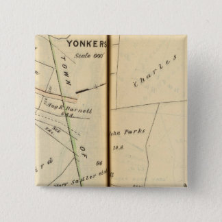 Yonkers, New York 5 15 Cm Square Badge