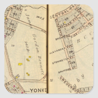 Yonkers, New York 7 Square Sticker