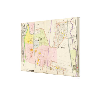 Yonkers New York Atlas Map Canvas Print