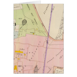 Yonkers New York Atlas Map Card