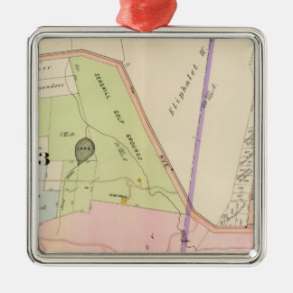 Yonkers New York Atlas Map Christmas Ornament
