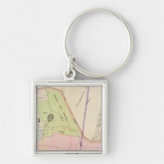 Yonkers New York Atlas Map Key Ring