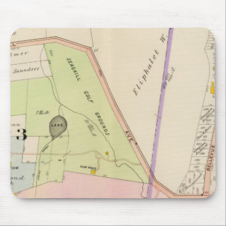 Yonkers New York Atlas Map Mouse Mat