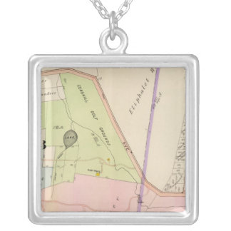 Yonkers New York Atlas Map Silver Plated Necklace