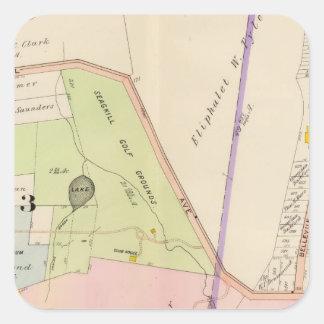 Yonkers New York Atlas Map Square Sticker