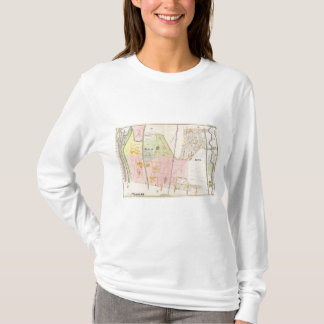 Yonkers New York Atlas Map T-Shirt