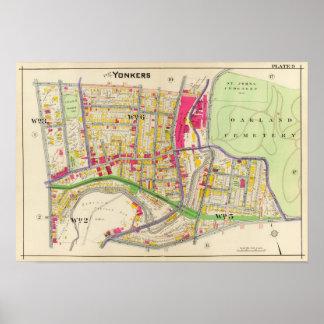 Yonkers New York Atlas Poster