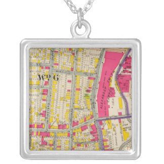 Yonkers New York Atlas Silver Plated Necklace